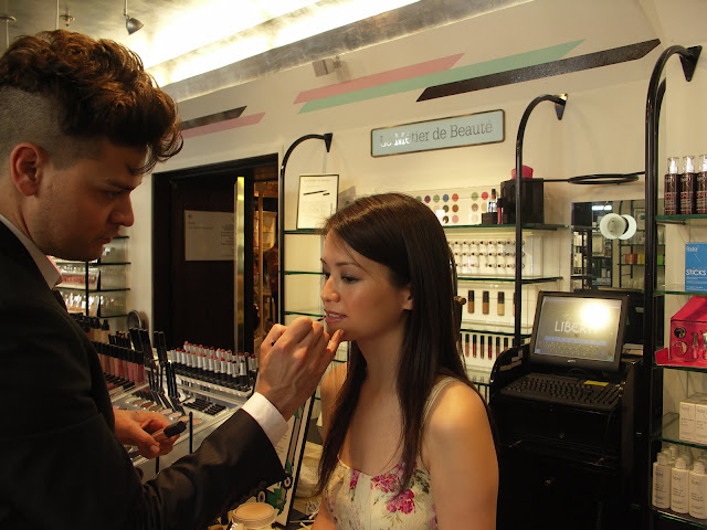 Le Métier de Beauté make-up artist Ivan Castro applies lip colour