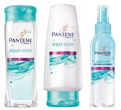 Pantene Aqua Light Shampoo, Conditioner and Nourishing Mist