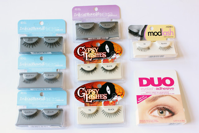 Natural-looking false lashes