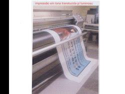 Impressão em lona translúcida para luminoso