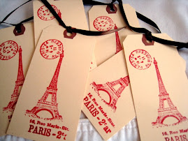 Paris Bookmarks or Gift Tags