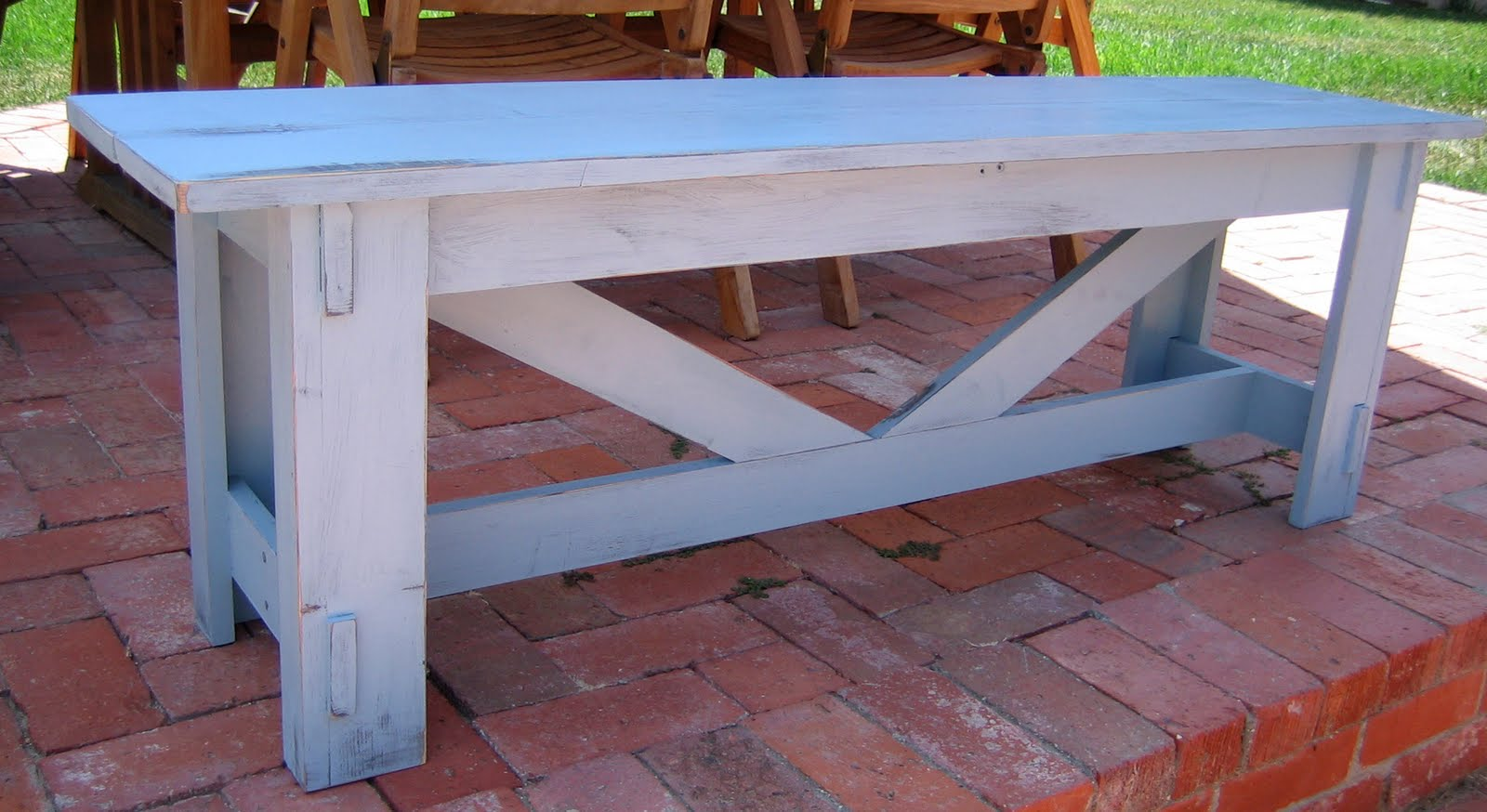 Shabby Chic Rustic Bench Farmhouse Table Company