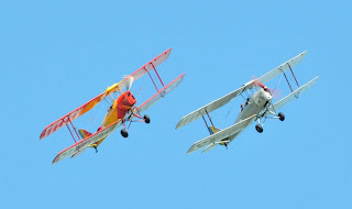 Two de Havilladn Tiger Moths