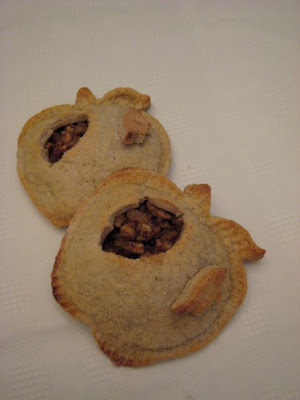 Two Apple-Shaped Personal Apple Pies
