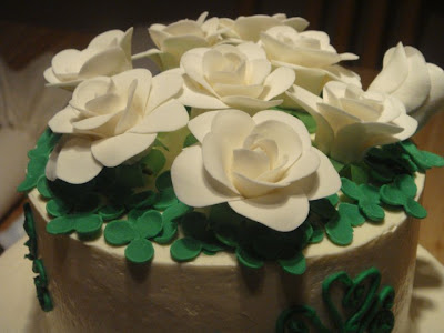 irish birthday cake flowers and clovers