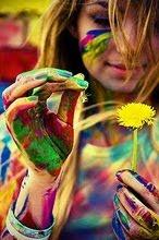 A sua vida é as cores que você pinta.