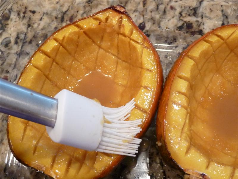 ButterYum Maple Glazed Acorn Squash