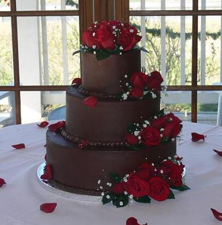chocolate truffle wedding cake