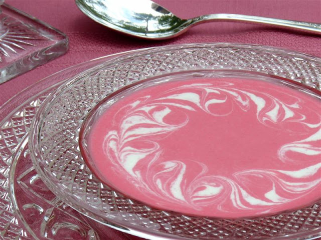 Chilled Strawberry Soup with Greek Yogurt