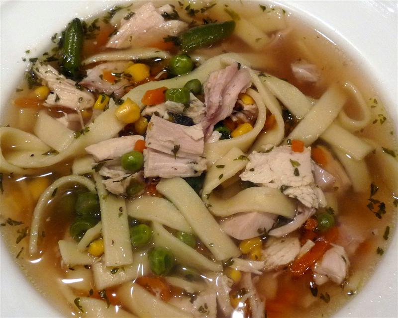 Butteryum chicken noodle soup italian style for Homemade chicken noodle soup crock pot