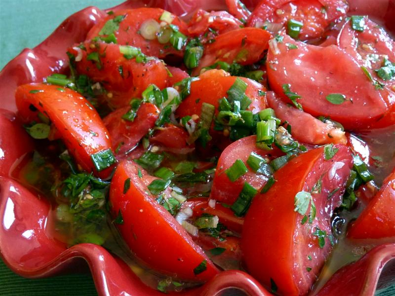 Killer Marinated Tomatoes by ButterYum