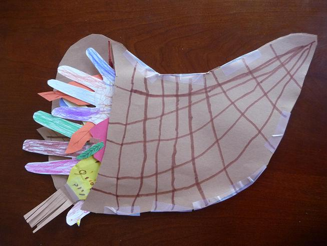 preschool crafts for kids thanksgiving cornucopia craft 2