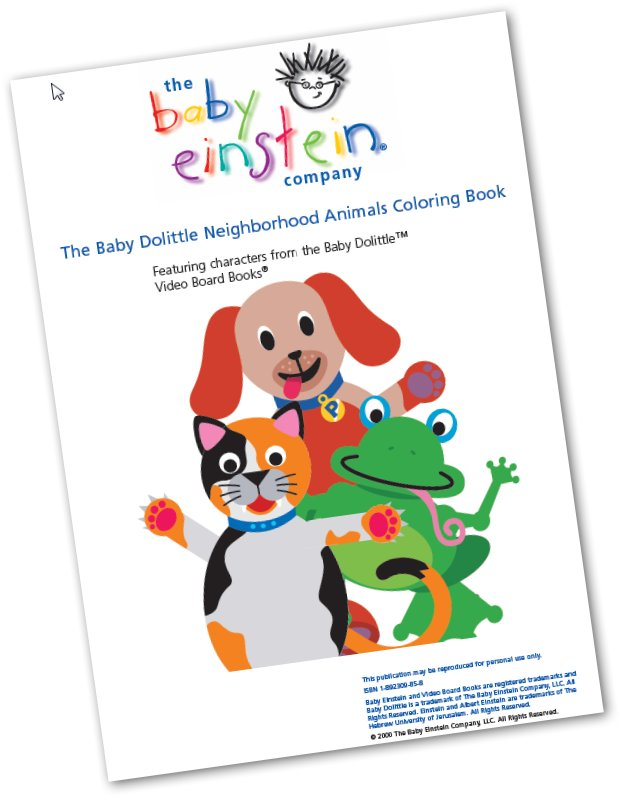The Baby Einstein Coloring Books | LibrosVirtual
