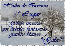 Primer PREMIO  Haiku de invierno