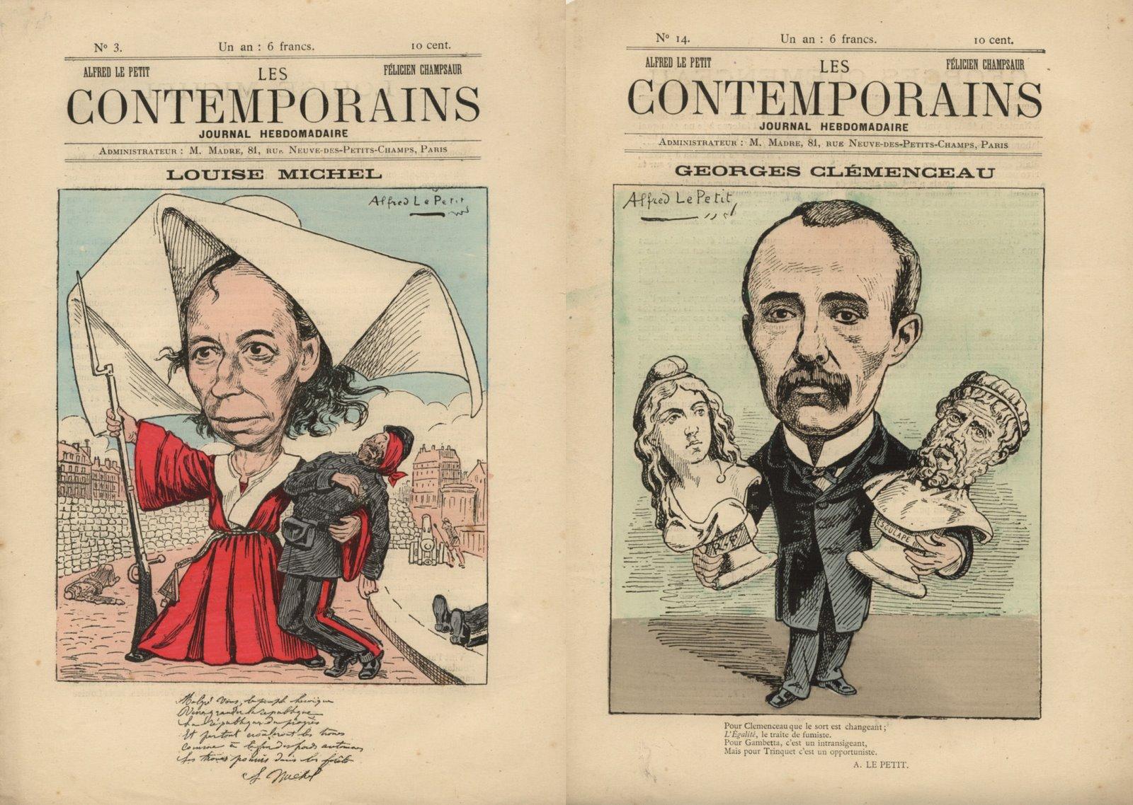 Les Contemporaisn N° 3 - Louise Michel et Clémenceau