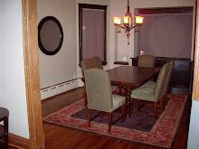 Livin' the life in the new dining room...happily, the site of wonderful dinner parties...