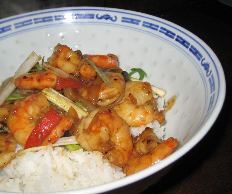 ... recipes, recaps, and restaurant reviews: Shrimp with Black Bean Sauce