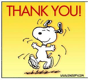 MOUNT CARMEL: Snoopy Says Thanks!