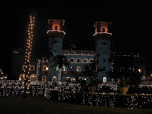 St. Augustine Lit Up for Christmas