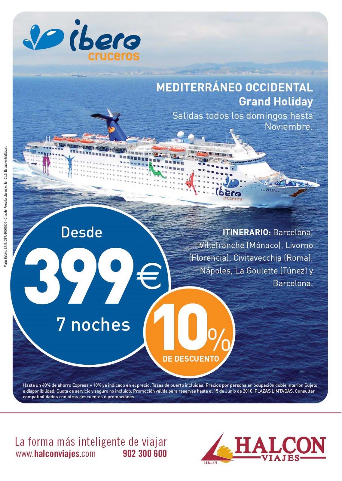 Halcon viajes lorca c cubo14 oferton con ibero cruceros - Oficinas viajes halcon ...