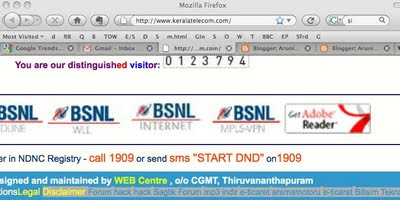 keralatelecom.com hacked BSNL