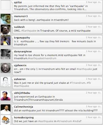 Trivandrum-Thiruvananthapuram quake