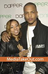 TI and fiance Tameka Cottle
