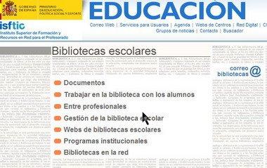 Recursos para a biblioteca do Ministerio de Educación