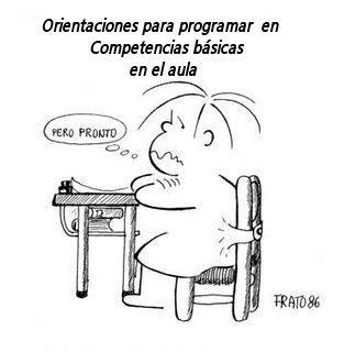 """""""Orientaciones"""" para programar en Competencias Básicas"""
