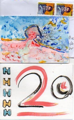 Liberiamo L'acqua  5 Mailart Fronte retro
