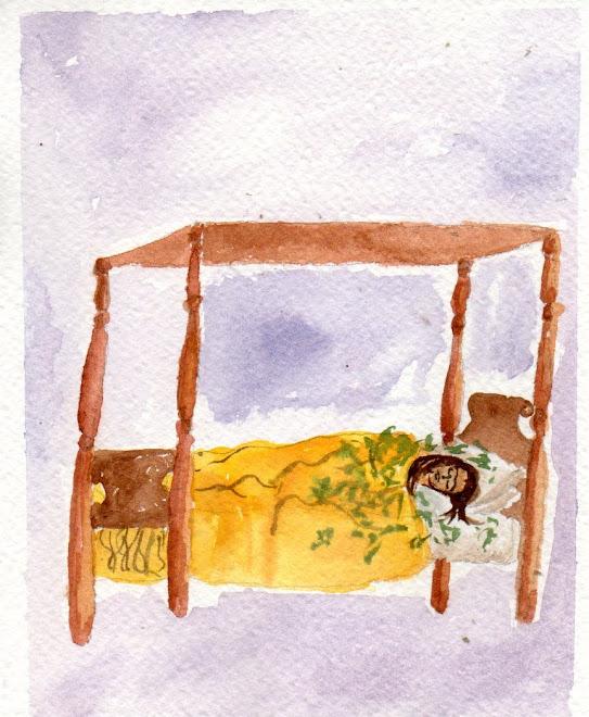 Dal sogno e il letto 1940 (acquerello)