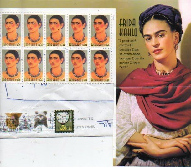 Francobollo Originale Frida KahloStati Uniti, emesso il 21 giugno 2001