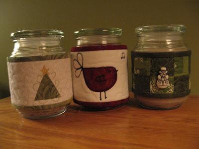 Decorar frascos for Frascos decorados para navidad