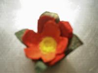 Artesania reciclada: Flores con cajas de huevos