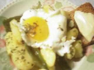 Receta de huevos rotos, huevos rotos  light