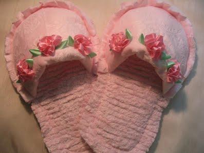 Como hacer pantuflas Shabby Chic