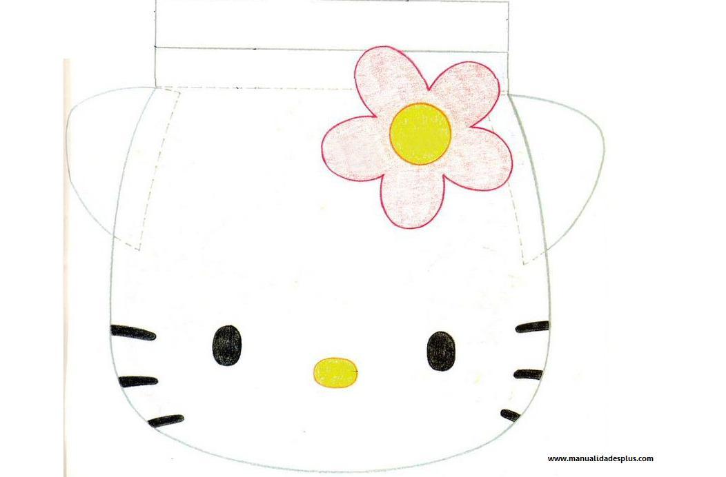 Como hacer portacosmeticos de Hello Kitty