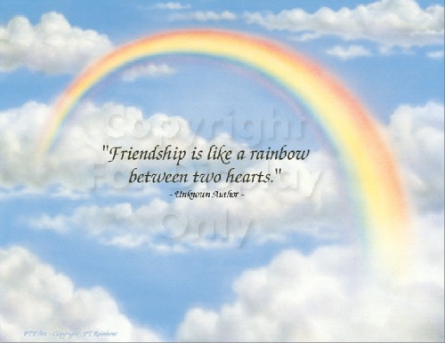 rainbow quotes for friendship