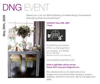 Our Next DNG Event Will Be Held At The Red House Interiors Tomorrow May 28th From 7 9pm If You Would Like To Added Email Member List