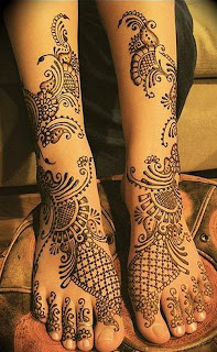 Latest Leg Mehndi designs 2011