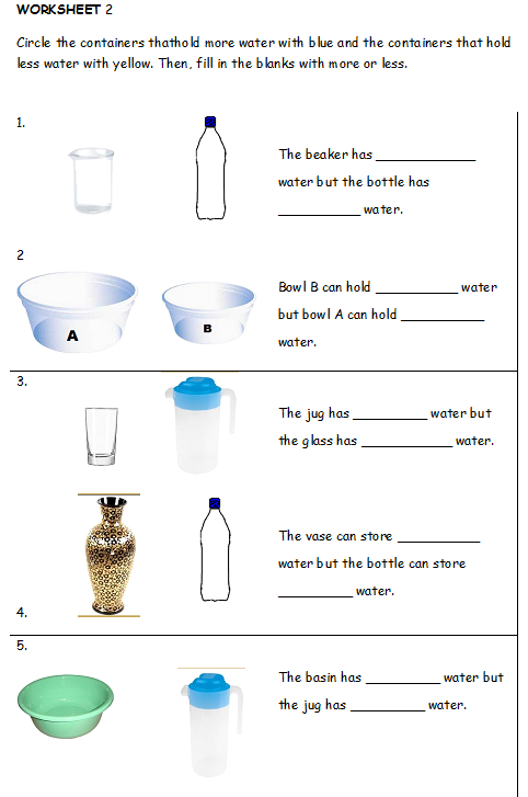 Measuring worksheets for year 3