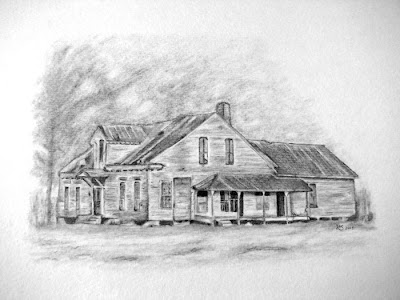 Drawing  Old Houses http://pencilportraitworks.blogspot.com/2009/03/drawing-of-old-house-part-4-finale.html