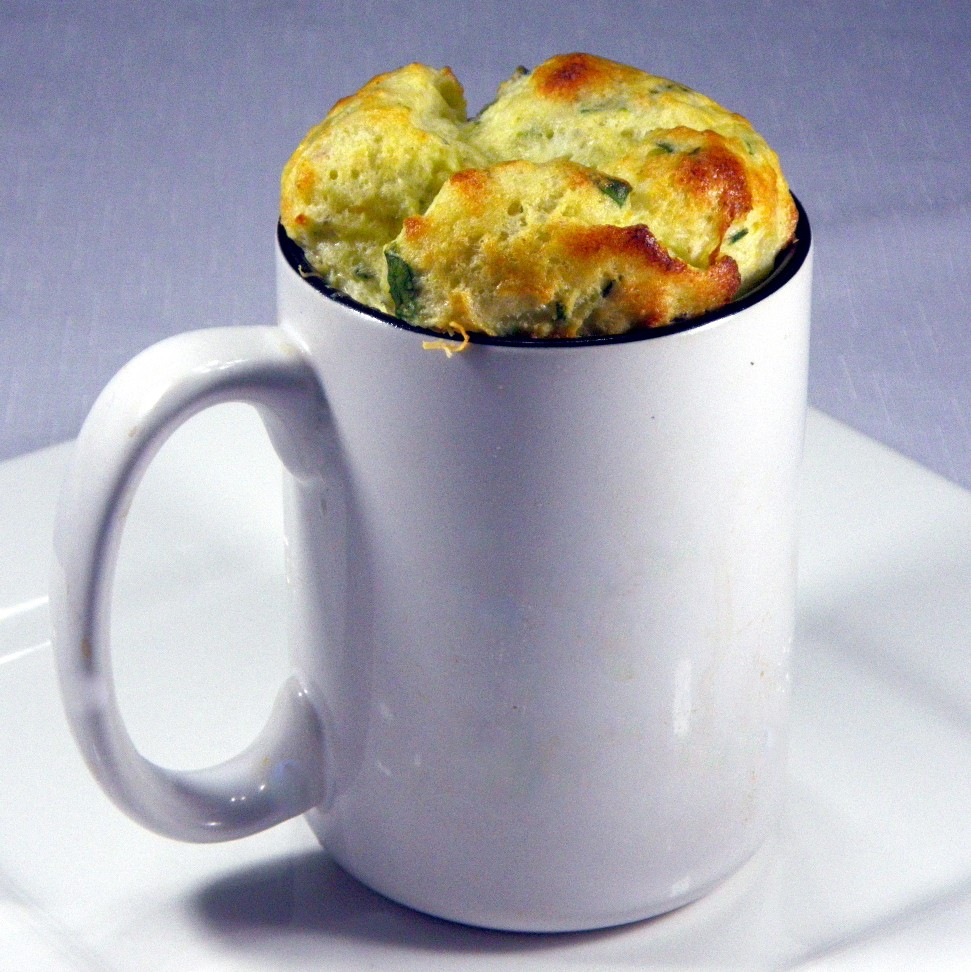 year on the grill: cheese and spinach souffle - single serving in