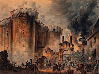 The taking of the Bastille in the French Revolution