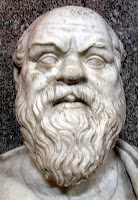 Large headbust of bearded Socrates