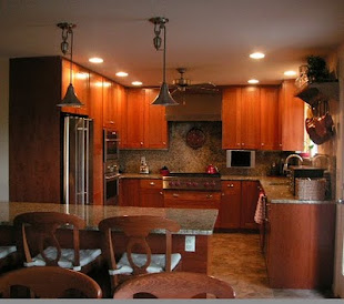 Kitchen with an  Amber Glow