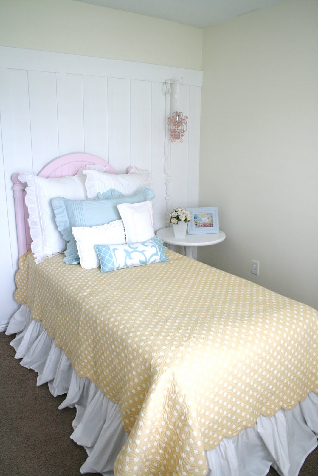 Pretty Pink Painted Headboard