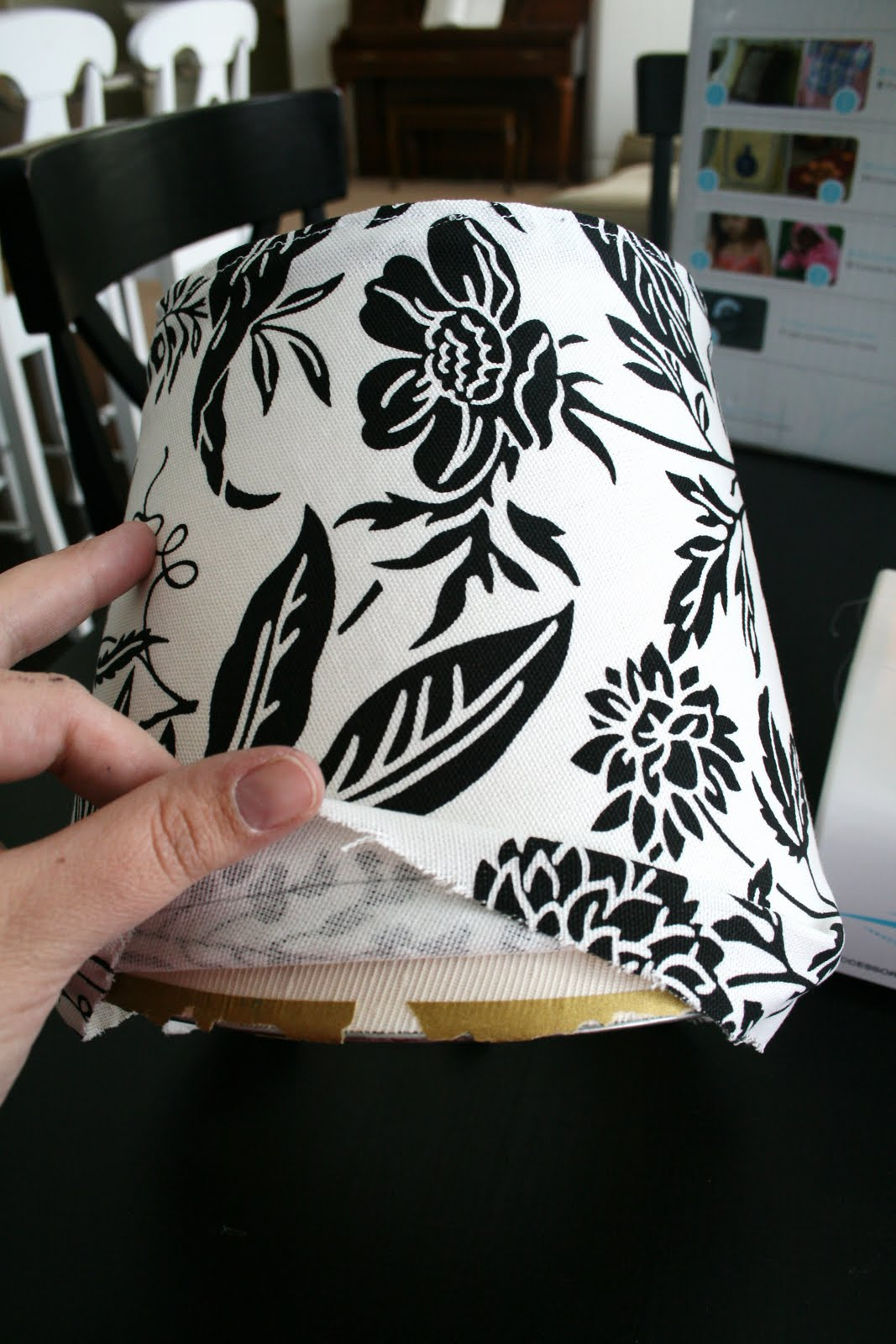 Slip cover for lampshade tutorial mozeypictures Gallery