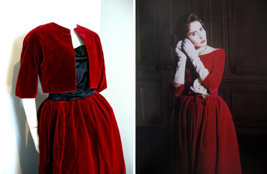 Robe soiree velours femme