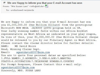 Mega Million Lotto Winner